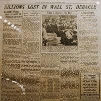 Billions Lost in Wall Street Debacle